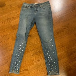 Velvet Heart Pearl Jeans denim